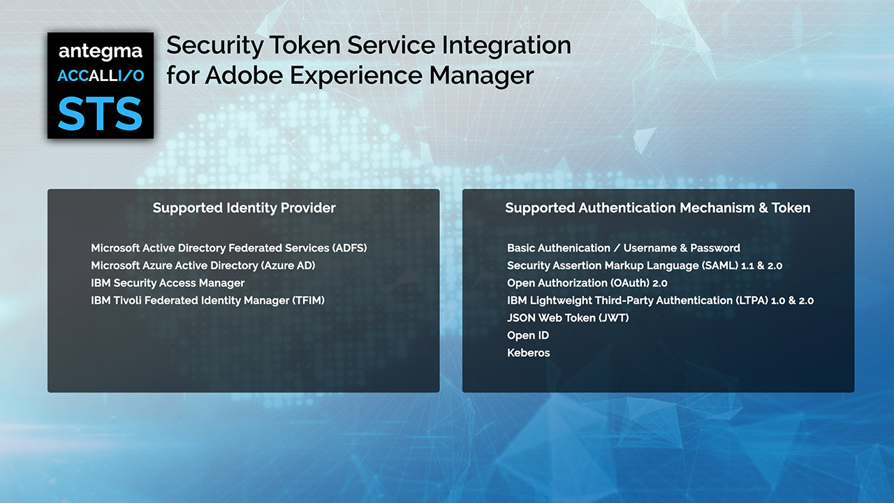 accallio STS - Security Token Service Integration